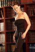 Black Business Pant Suit - Stunning Published Model - Brittney Godwin — Stock Photo
