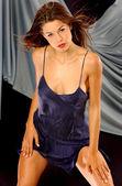 Satin Slip - Purple Sleepwear — ストック写真