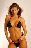 Attractive sexy model posing  in Bikini swimsuit — Stock Photo