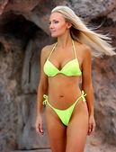 Blonde professional model — Stock Photo