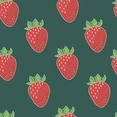 Strawberry seamless pattern — Stock Vector