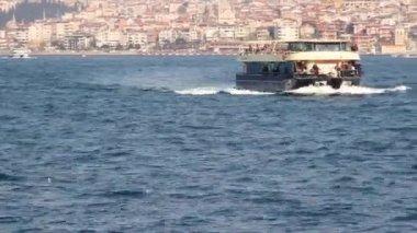 Ferry Boat on the Bosphorus — Video Stock