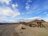 Entrance of Rhyolite, Nevada of United States — Stock Photo
