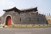 Paldalmun (South Gate of Hwaseong Fortress) — Stock Photo