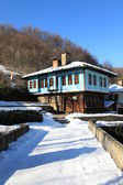 Traditional bulgarian house during the winter , Etar, Gabrovo, Bulgaria. — Stock Photo