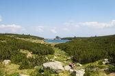 Landscape view of  Lake Bezbog in Natural park Pirin, Dobrinishte, Bulgaria — Stock Photo