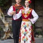 geleneksel Bulgar kostümü giymiş genç armoni — Stok fotoğraf #51768967