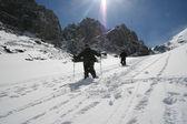 People in snow mountain — Foto de Stock