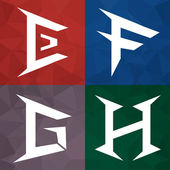 E F G H Alphabet to an icon form. Business creative. — Stock Vector