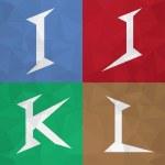 I J K L Mix alphabet letter font icon. Creative Marketing. — Stock Vector #50714027