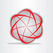 Atom energy abstract symbol — Stock Vector