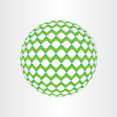 Christmas green decoration ball  — Stockvektor