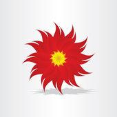 Röd blomma dekoration design — Stockvektor