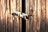 Locked barndoor — Stock fotografie