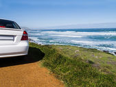 Car on a scenic route to the Cape of Good Hope, South Africa — Stock Photo