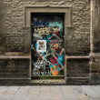 Grunge door with graffiti in Barcelona, Spain — Stock Photo #50195551