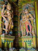 Colorful Sculptures in Jain Temple, Bikaner, India — Stock Photo