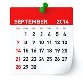 Setembro de 2014 - calendar — Fotografia Stock