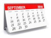 September 2014 - Calendar — Stock Photo