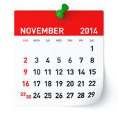 Novembre 2014 - calendario — Foto Stock