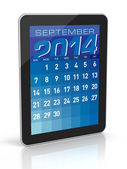 September 2014 - Tablet Calendar — Stock Photo