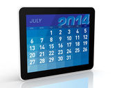 July 2014 - Tablet Calendar — Stock Photo