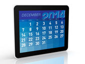 December 2014 - Tablet Calendar — Stock Photo