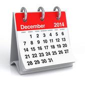 December 2014 - Calendar — Stock Photo