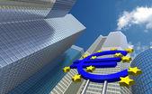 Banco central europeo — Foto de Stock