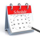 Schedule — Stock Photo