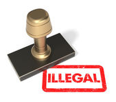 "Rubber stamp ""Illegal"" — Stock Photo"