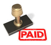 "Rubber stamp ""PAID"" — Stock Photo"