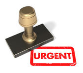 "Rubber stamp ""Urgent"" — Stock Photo"