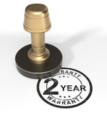 """Rubber Stamp """"2 Year Warranty"""" — Stock Photo"""