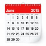 June 2015 - Calendar — Stock Photo #50635267