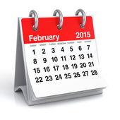 февраль 2015 - календарь — Стоковое фото