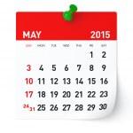May 2015 - Calendar — Stock Photo #50706959