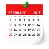 Febbraio 2015 - calendario — Foto Stock