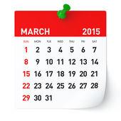 March 2015 - Calendar — Stock Photo