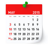 May 2015 - Calendar — Stock Photo
