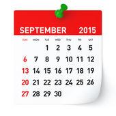 September 2015 - Calendar — Stock Photo