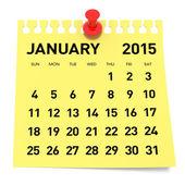 January 2015 - Calendar — Stock Photo