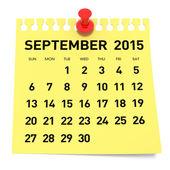 Eylül 2015 - takvim — Stok fotoğraf
