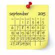 September 2015 - Calendar — Stock Photo #51068605