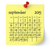 September 2015 - Calendar — Stock Photo