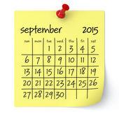 2015年 9 月 - カレンダーします。 — ストック写真