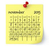 November 2015 - Calendar — Stock Photo