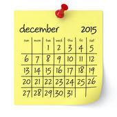 December 2015 - Calendar — Stock Photo