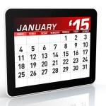 January 2015 - Calendar — Stock Photo #51114213