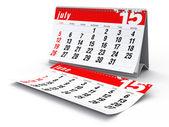 July 2015 - Calendar — Stock Photo